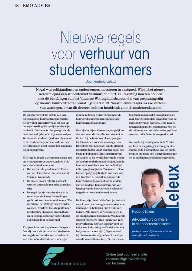Artikel Nieuwe regels voor verhuur van studentenkamers LVZ